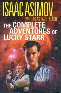 Lucky Starr Omnibus cover from Science Fiction Book Club