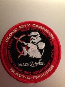 Make A Wish Foundation Rose City Comic Con Patch