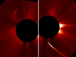 Image Credit:  ESA/NASA/SOHO/Jhelioviewer