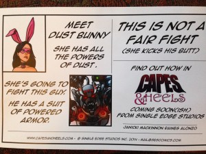 Dust Bunny and Mechismo half sheet promo by Jason Raines