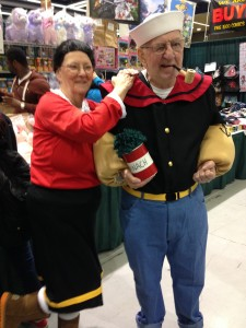 Popeye and Olive Oyl cosplay