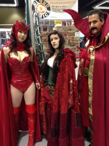 Doctor Strange & Scarlett Witch & friend