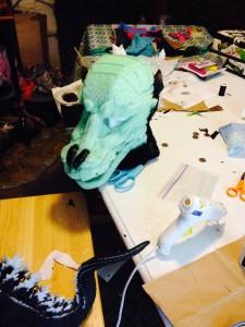 Godzilla's head