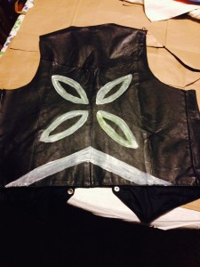 Mothra pattern on vest