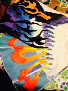 The pattern is really coming together as I near completion on painting.