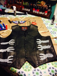 front of vest as underbelly
