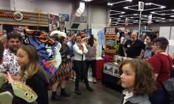 Cosplay Newt meets Cosplay Mothra--Squeeing happens