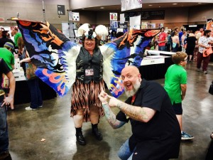 Kyle of Kaijucast with Mothra