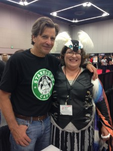 Gratuitous pic of Mothra cosplay with Dirk Benedict
