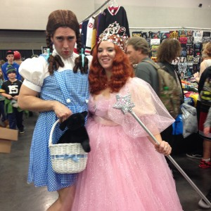 Adorable couple as Dorothy and Glenda