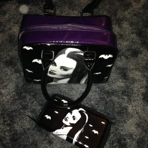 Munster Go Home:  Lilly Munster bag and billfold