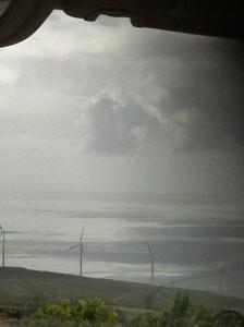 Wind Turbines on the road to Haleakala National Park