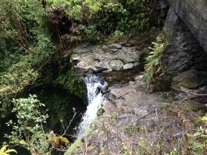 Waterfall and pool in Haleakala National Park, Maui