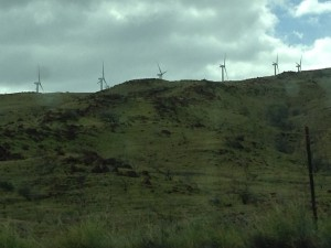 The same Wind Turbines on the way back from Haleakala National Park