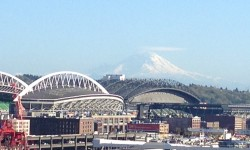 Mt Rainier over Seattle