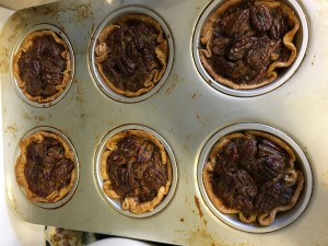 Pecan Bourbon Mini Pies